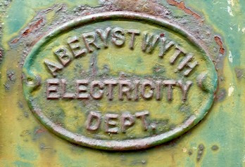 Aberystwyth Electricity Deptartment sign