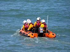 RNLI rescue dinghy