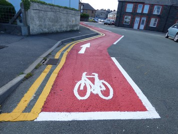 Aberystwyth's Only Cycle Lane